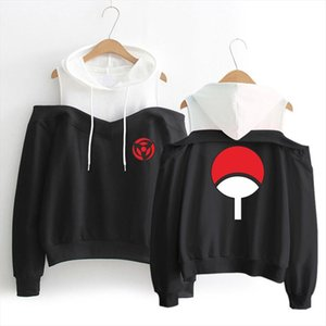Anime NARUTO Printed Sexy Off shoulder Hoodies High Quality Women Hoodie Sweatshirt Women Fashion Fleece Warm Jacket Coat