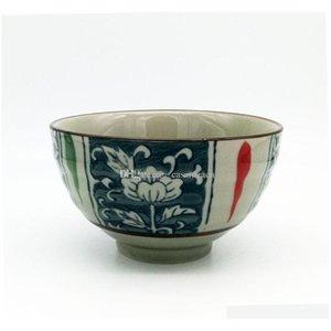 Vintage japonês porcelana arroz tigelas de vida asiático estilo de vida do lado projeto flor 4,5 polegadas cerea jllmma xhhair
