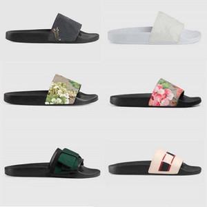 Yüksek Kaliteli Şık Terlik Kaplanlar Moda Klasikler Sandalet Erkek Kadın Terlik Kaplan Kedi Tasarım Yaz Huaraches Terlik Home011 2