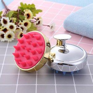 Gold Plated Silicone Scalp Massage Hair Brushes Comb Non Slip Washing Shampoo Shower Hair Brush Comb Spa Massage Combs For Hair tsetvuz