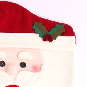 Christmas Chair Copertina uomo Donna Design Christmas Sedia Sedia Indietro Coperture Buon Natale Sedie da sposa Cap HWC2917