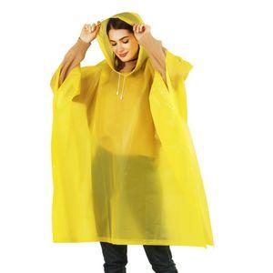Reusable 5 Colors Trench Fashion Hooded Women Men Unisex Raincoat Outdoor Poncho Waterproof Rain Coat Rainwear Z0414