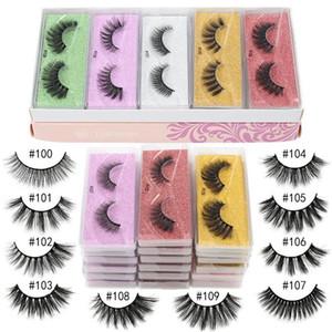 New 2021 3D Mink Eyelashes Wholesale 10 Styles 100-109 3d Mink Lashes Natural Thick Fake Eyelashes Makeup False Lashes Extension In Bulk