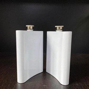 Frasco de sublimação em branco frasco de quadril frasco de aço inoxidável garrafa de água dupla diy amante tumblers ao ar livre drinkware 8oz mar marzinho gwb2760