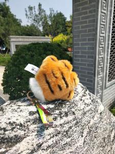 Cartoon Hairy beast tiger pattern tiger claw animal bear paw plush toy doll bear palm handkerchief glove pillow cushion doll