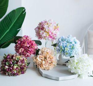 Artificielle Hydrangea grande simulation Hydrangea décoratifs rétro fleurs mur floral tenue pièce modèle gros décoration de la maison