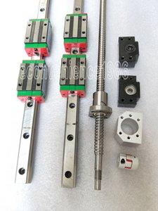 HGR20 lineare ferroviario HGH20CA cuscinetto RM1605 Anti-backlashed ballscrew BF12 / BK126.35 * 10mm del motore Accoppiamento L250mm a L2000mm