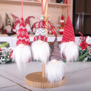 nuevo regalo decoración de productos forestales 2020 sentado postura sin rostro muñeca colgando colgante muñeca decoración de Navidad