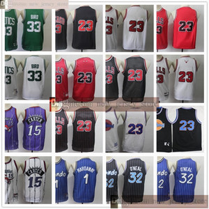 Niños juveniles para hombre Retro Penny Basketball 1 Hada) 15 Camisetas Carter Niños Larry 32 ONEAL 33 Pájaro cosido Basketball Jerseys