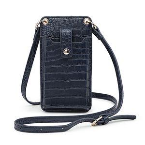 Carteira de moda padrão de crocodilo HBP com caso universal de telefone celular PU couro hasp wallet flip capa protetora anti-outono