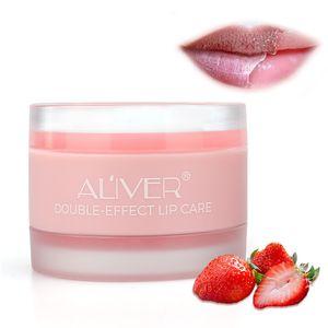 ALIVER Lip Scrub Gel +Moisture Cream 2 in 1 Lip Care Nourish Protect Lips Care Lip Balm Scrub Jelly Moisturizing Lips Mask 6pcs