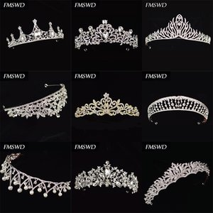 FMSWD Fashion Queen Silver Grown New Diverse Bridal Wedding Crystal Goddess Dea Birthday Party Rhinestone Accessori per capelli