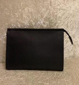 Highight Quality Travel Tounce Business Pouch 26 см Защита Макияж сцепления Женская печать Натуральная Кожа Водонепроницаемые косметические сумки