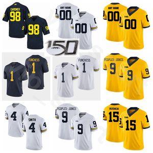 College NCAA Fútbol Michigan Wolverines 4 Deveon Smith Jersey Limited 15 Jake Rudock 98 Devin Gardner Devin Funchess Donovan People-Jones