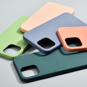 Fashion Imitation liquid silicone mobile phone case suitable for iPhone 12 mini pro max TPU anti-fall mobile phone case