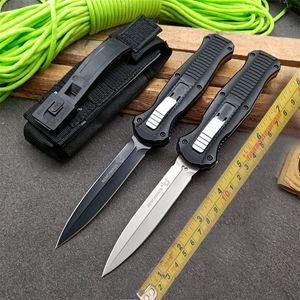 "Benchmade BM 3300 3310BK Infidel AUTO Knife 3.95"" D2 Satin Double Edge Blade Aluminum Handles outdoor camping 535 3310 3350 C81 MICROTECH"
