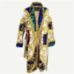바로크 패턴 드레스 소프트 터치 코지 코튼 목욕 가운 조류 홈 호텔 잠옷 여성 남성 남여 스파 가운