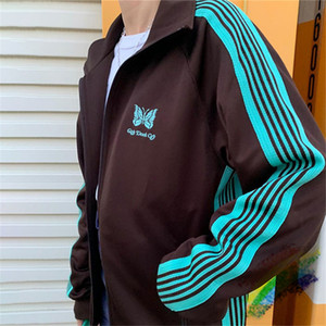 Jacket Men Women Top Quality Striped Embroidery Jackets Streetwear Coat