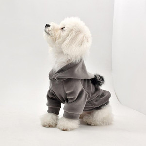 Pet Clothes Hoodies Sweater Dog Winter Clothing Autumn and Winter Thickening Teddy Bear Dog Clothes Pet Supplies
