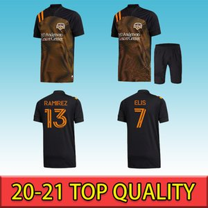 2021 Houston Soccer Jerseys Dynamo Elis Ramirez MANOTAS MLS T-shirt de football Home Orange Orange Uniformes