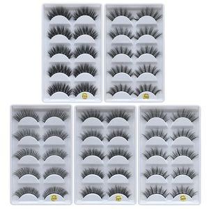 DHLfree shipping 5pais Eye Lashes Thick false Eyelashes 5 pairs of false eyelashes F810 5pais EyeLashes F820 F830 F840 F850