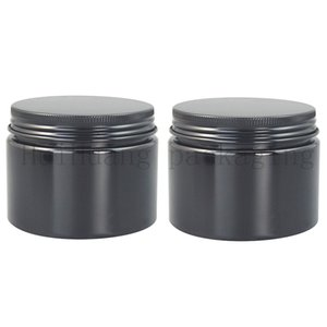 20pcs lot Black 150g Plastic Cream Bottle Refillable Cosmetic Body Lotion Jar Empty Handmade Mask Powder Packaging Containers