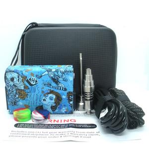New Hot Portable E dab nail kit electric dab nail rig E D electronic dabber box PID TC control Titanium Quartz Nail wax