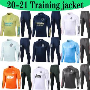 2020 2021Top Real Madrid Hombres Fútbol Trajes de entrenamiento 20 21 Marsella Mbappe Survetement Maillots de Foot Chandal