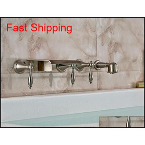 New Wall Mounted Bathroom Waterfall Tub Faucet Hand Shower Spra qylrFe yh_pack