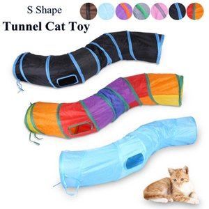3 Holes Cat Tunnel Toy Foldable Cat Toy Indoor Outdoor Pet Training for Kitty Puppy Play Toys Tube