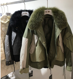 New Real Natural Fox Fur women Winter Jacket bomber oversize warm Coat Down Parkas Coats female Hooded White Duck Down Jacket
