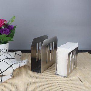 Stainless Steel Towel Napkin Rack Box Table Decoration Tissue Boxes Tissue Holder Cutlery Floral Hollow-Out Design