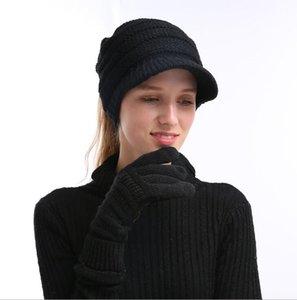 2020 invernale unisex Touch Screen Gloves Texting Smartphone telefono Knit di inverno neri delle signore del Mens guanti tocco magico mittensThicken Guanti CC151