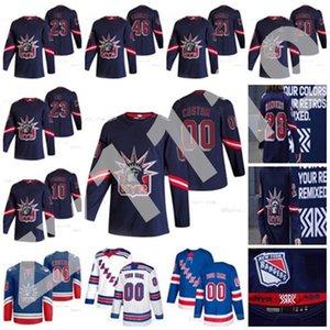 New York Rangers 2021 Ters Retro Hokey Formaları Filip Chytil Tim Geterji Kevin Rooney Anthony Bitetto Tony Deangelo Özel Dikişli Erkekler
