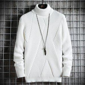 Abbigliamento Turtelneck Uomo Primavera Uomo Autunno Maglione Streetwear Giappone Maglione degli uomini di stile casuale Harajuku maniche lunghe da uomo