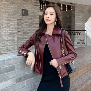 Free shipping, new quality women Genuine leather jacket.fashion sheepskin biker clothes,casual slim leather coat,wholesales 201006