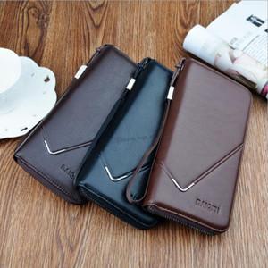 Designer-Wallet Men Fashion Male Business Clutch Bag Handbag Purse Bifold Credit Card Pu Leather Men's Wallet Free Shipping