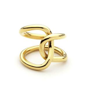 Double ligne Cross Winding Anneaux Pour Femmes Anneaux Infinity Anneaux Personnalisé Cadeaux Design Unique Design Bijoux Anel Feminino