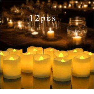 Home Decor Candle 12 Remote Or Not Remote New Year Candles,battery Powered Led Tea Lights Led Candle Light Eas bbyeOY