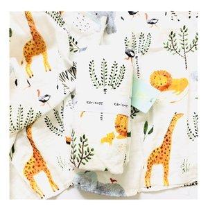 Karitree Muslin 70% Bambu + 30% Algodão Recém-nascido Toalha de Banho Cobertores Swaddle Baby Wrap Y200109