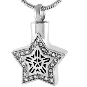 Infinity Star Ashes Meewsake Memorial Joyería de acero inoxidable Urna Collar de la cremación Colgante Humano Siendo Medallón