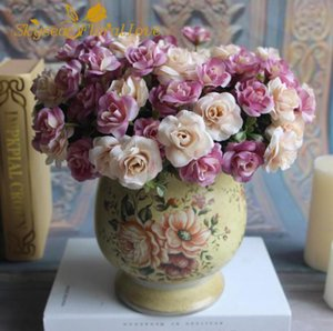 Real touch flowers 15 branches rose decorative for home garden wedding silk flowers artificial