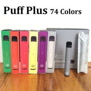 퍼프 바 플러스 일회용 vapes 장치 74 좋아하는 포드 키트 800 퍼프 550mAh 배터리 3.2ml 카트리지 펜 vape 카트 포장 전자 담배