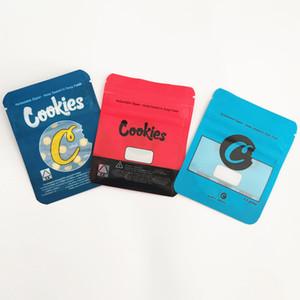 Azul Vermelho BISCOITOS Bags California SF 8ª 3.5G Mylar para crianças Bolsas 420 Packaging gelatti Cereal Milk Gary Payton