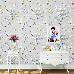 American Rustic Flower Wall Papers Home Decor Living Room Bedroom Fresh Floral Wallpaper Roll Decoration Mural