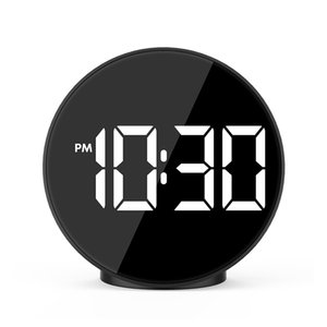 Alarm Clock Digital Large Time Temperature Light Voice Control USB Desk Table Watch Clocks Home Decor Desgin Gift FJ3209T
