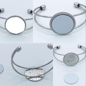 Sublimação em branco de abertura de metal pulseira jóias homens mulheres transferência térmica impressão moda braceletes DIY original de originalidade 5 8hy j2