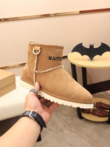 2019w Winter Limited Edition Custom Martin Boots Men &#039 ;S Leather Snow Boots High To Help Boots Fur Thick Cotton Shoes Tide ,Size :3 dlK