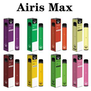 100% authentique AIRIS Max Dispositif jetable KIT DE POD 950MAH Batterie de 5,6 ml Cartouche de 56 ml 1600 Puffs Vape Pen Bar Plus E-Cigarettes