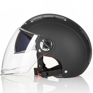 Шлем мотоцикла Open Face Motorcycle Helmet Каско Мото Motocicleta Cascos Para Motorbiker Scooter езда Черный